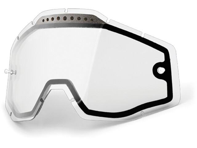 100% Vented Dual Replacement Lenses dual / clear